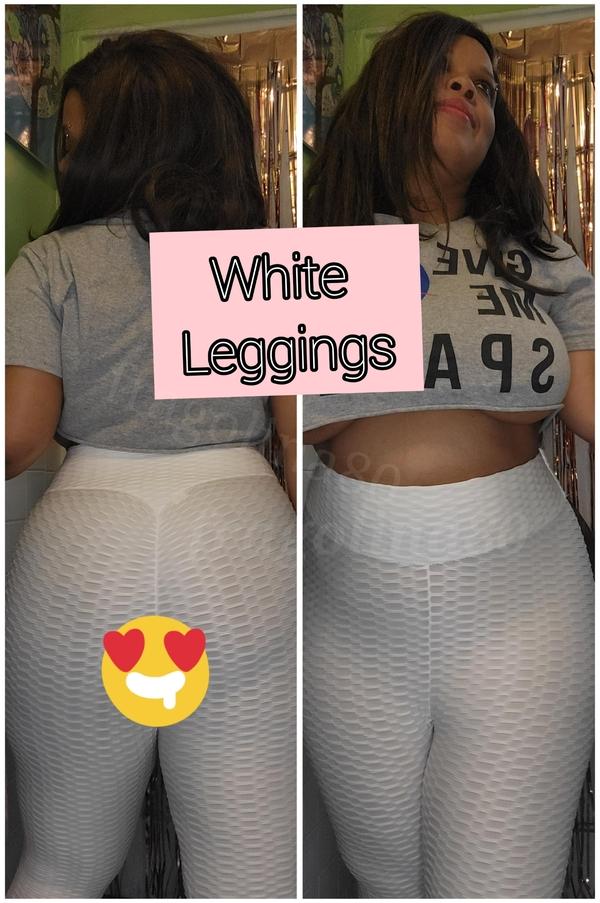 used White tiktok leggings