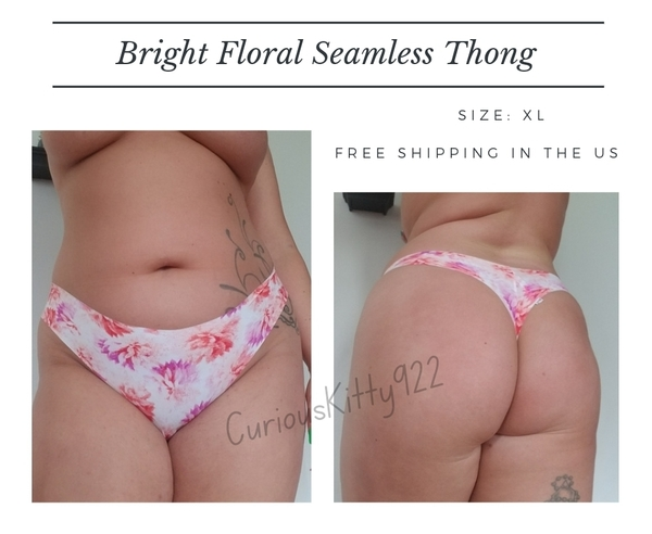 Bright Floral Seamless Thong