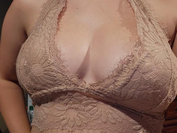 Nude neck strap bra
