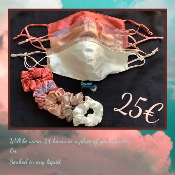 Satin Scrunchie and Mask