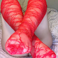 red lace stockings