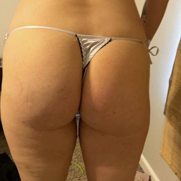 White satin thong