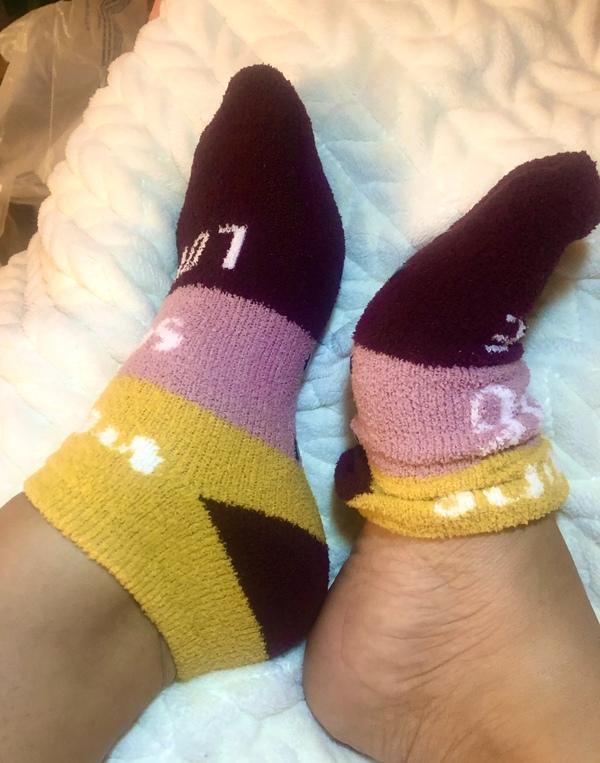 5 Day Warm Fuzzy Footie Socks *free shipping U.S*