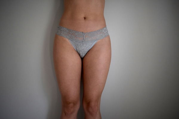 Gray lacy thong