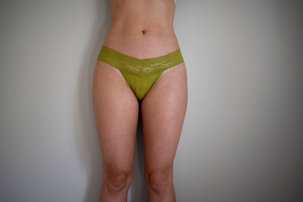 Olive lacy thong