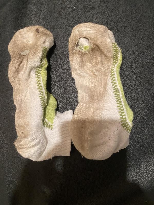 Dirty white ankle socks