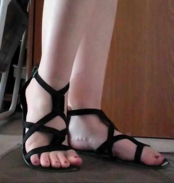 C'est vous worn out fetish sandals beauty! love
