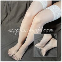 Small always nylon stockings white 03