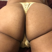 Small yellow butt thong