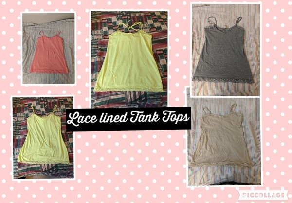 Lace Lined Tank Tops