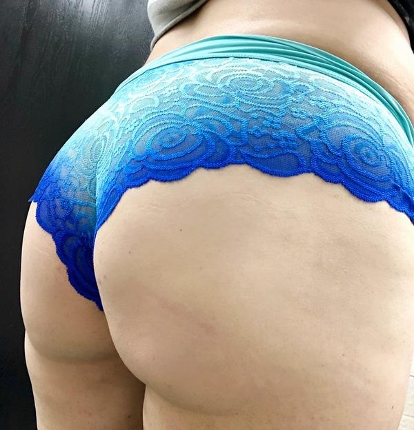 Blue aqua cheekies
