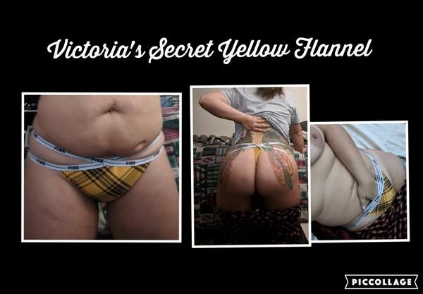 Victoria's Secret Yellow Flannel