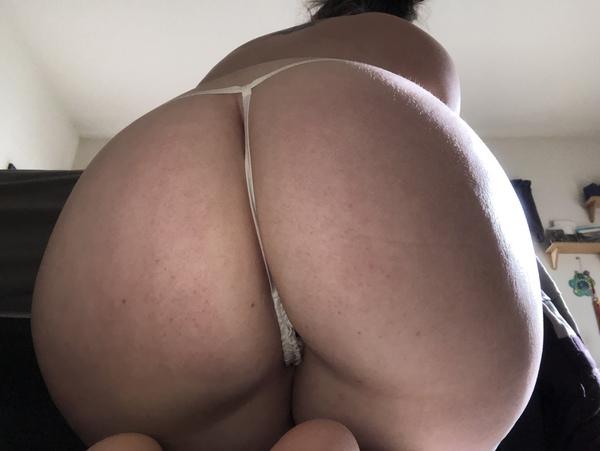 White Victoria's Secret thong