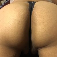 Small black butt thong