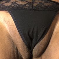 Small black pussy thong