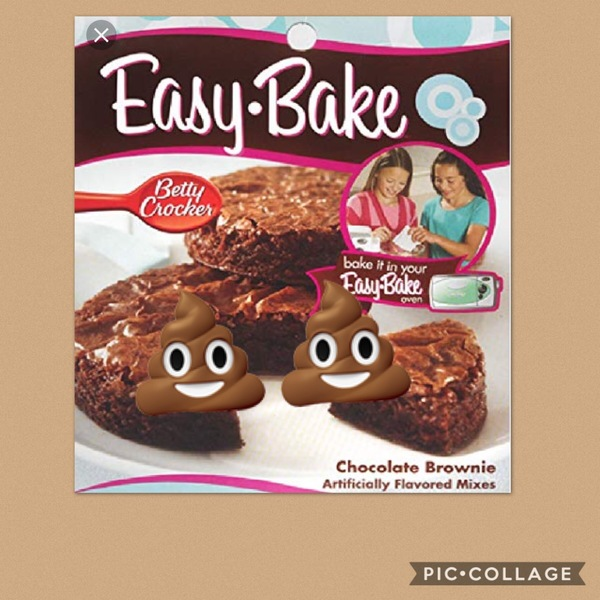 Easy bake poop brownies