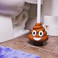 Small poop emoji toilet plunger thumb