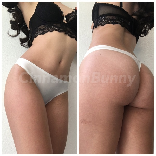 White seamless thong