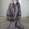 Fishnet Bone Thigh Highs