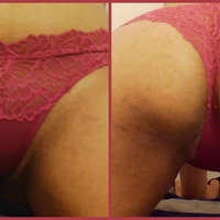 Small red thong cheeky