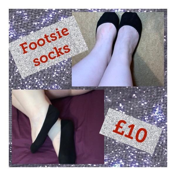 Black Footsie Socks (FREE UK SHIPPING)