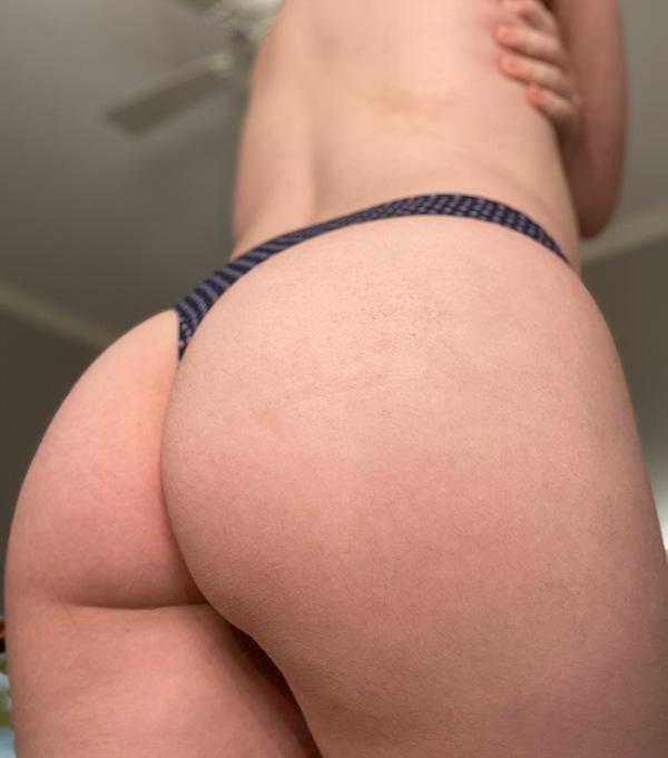 Silky Navy Thong