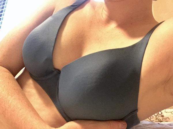 Old blue bra