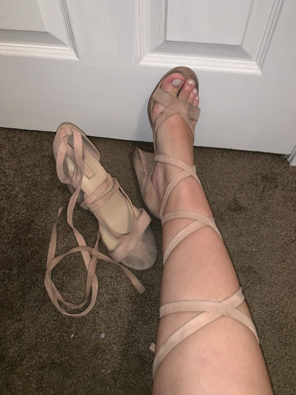 Sexy nude heels very worn