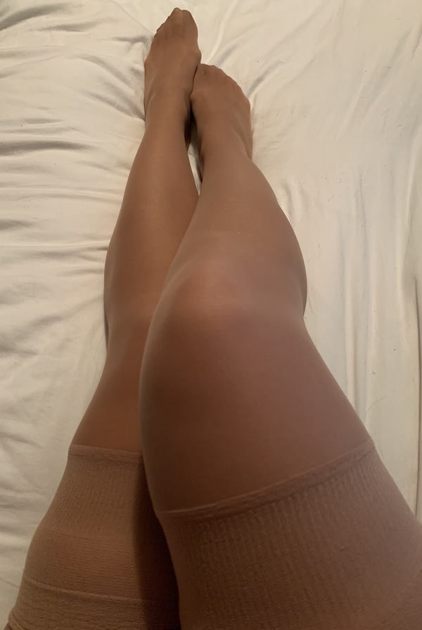 Thigh high nude stockings