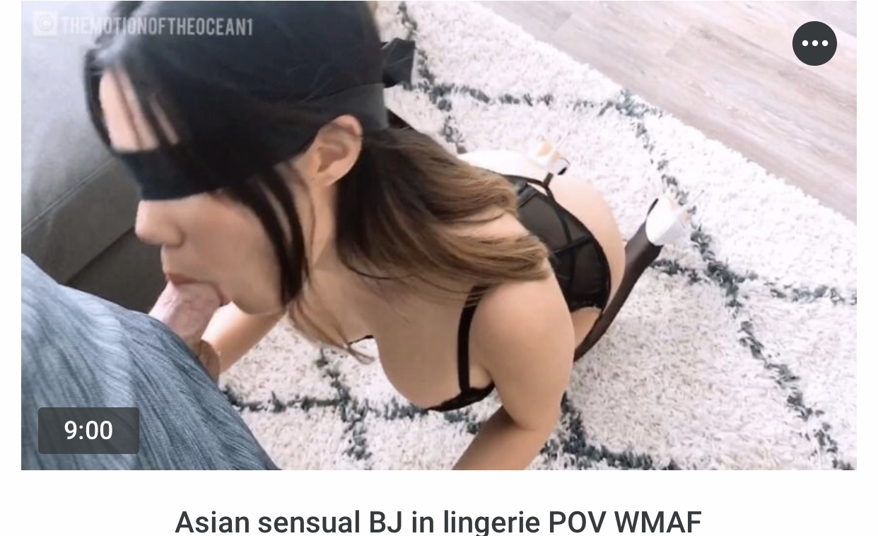 Asian Pov Blowjob Footjob