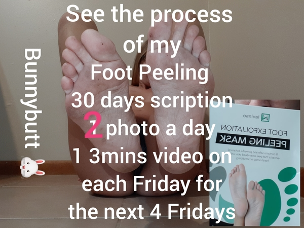30 day my feet peeling process