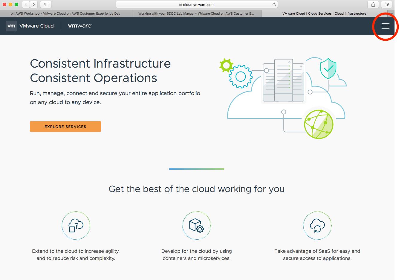 cloud.vmwware.com