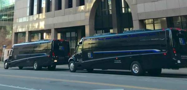 Corporate VIP dinner shuttles in downtown Dallas Fairmont