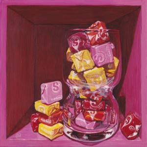 Supernovae by Paige Wallis. Acrylic showing Food/Objects.