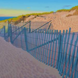 Beach Path by Rob Brooks. Oil Painting showing Scenery.