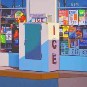 Packaged Ice by Rob Brooks. Oil Painting showing Scenery.