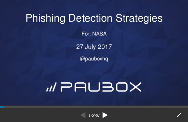 NASA Cyber Security Webinar: Phishing Detection Strategies - Paubox