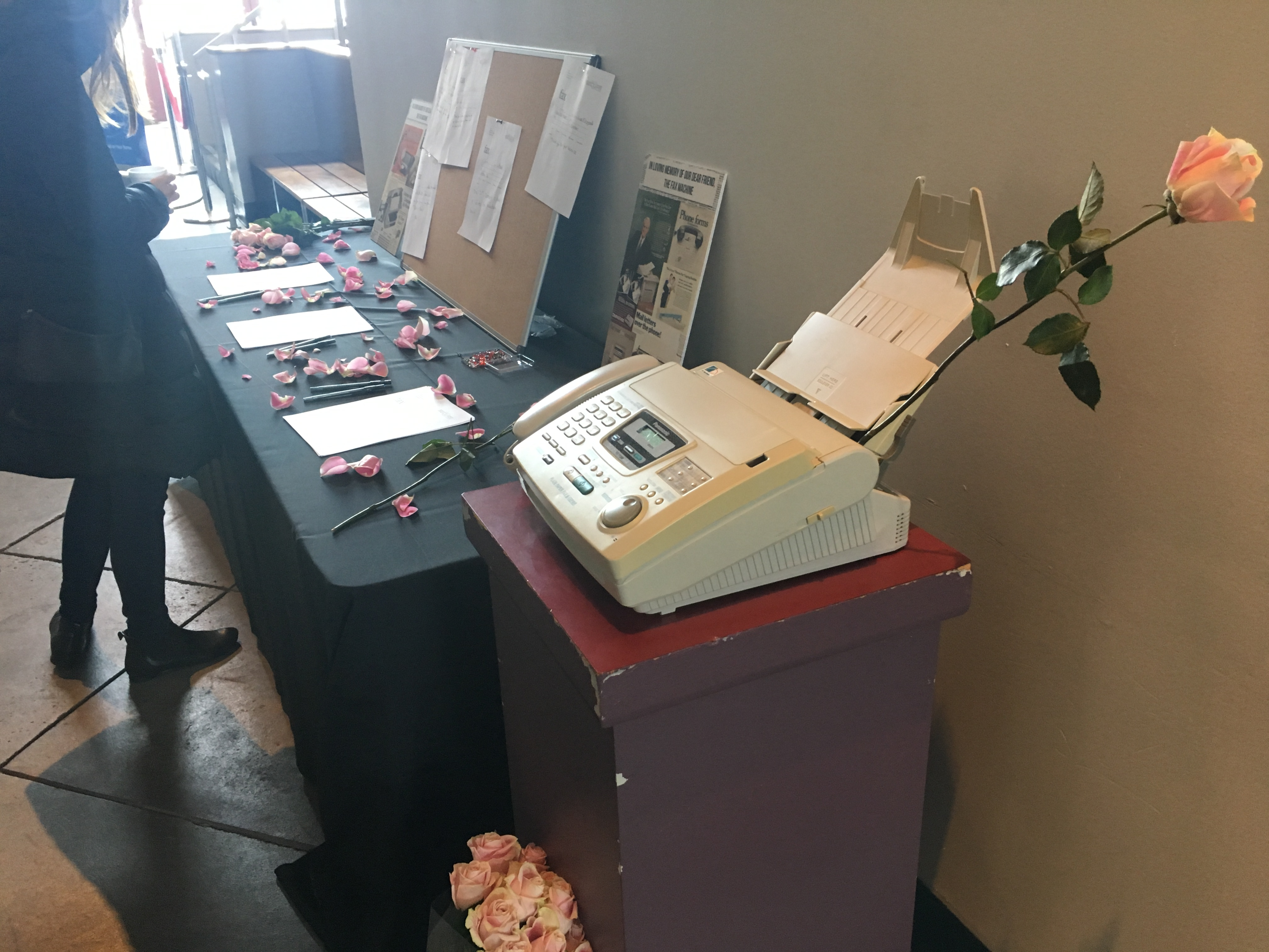Rememberance Board - A Wake for the Fax Machine - Paubox SECURE Conference