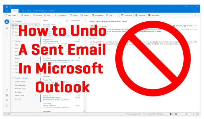 how to delete sent email outlook