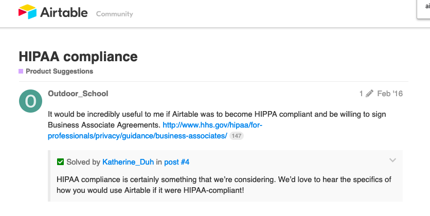 Can I use Airtable and be HIPAA Compliant? - Paubox