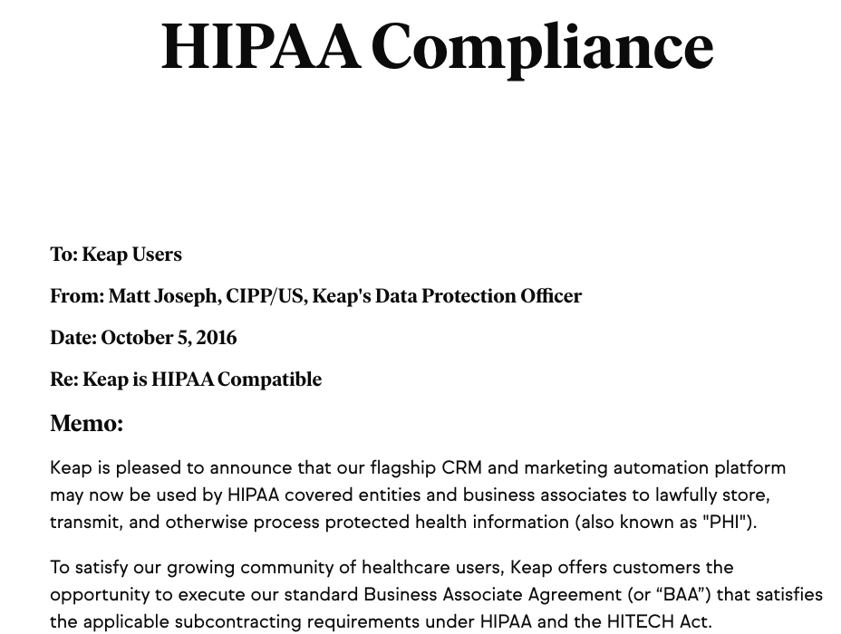 Does Infusionsoft offer HIPAA Compliant Email Service? - Paubox