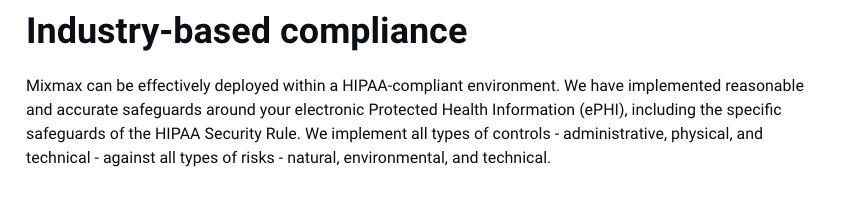 Can I use Mixmax and be HIPAA Compliant? - Paubox