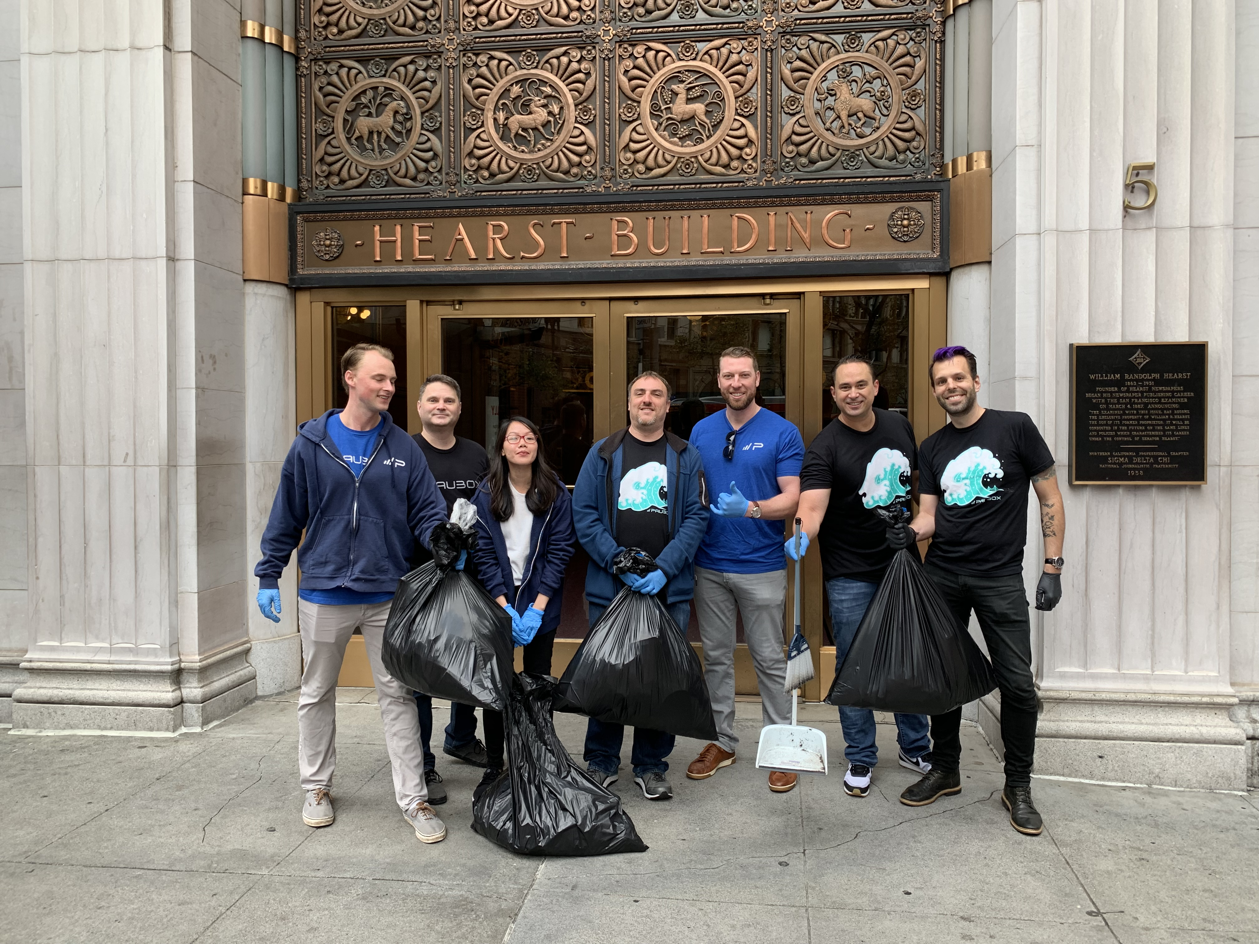 Paubox Community Service: Street Cleanup Around Our New Office