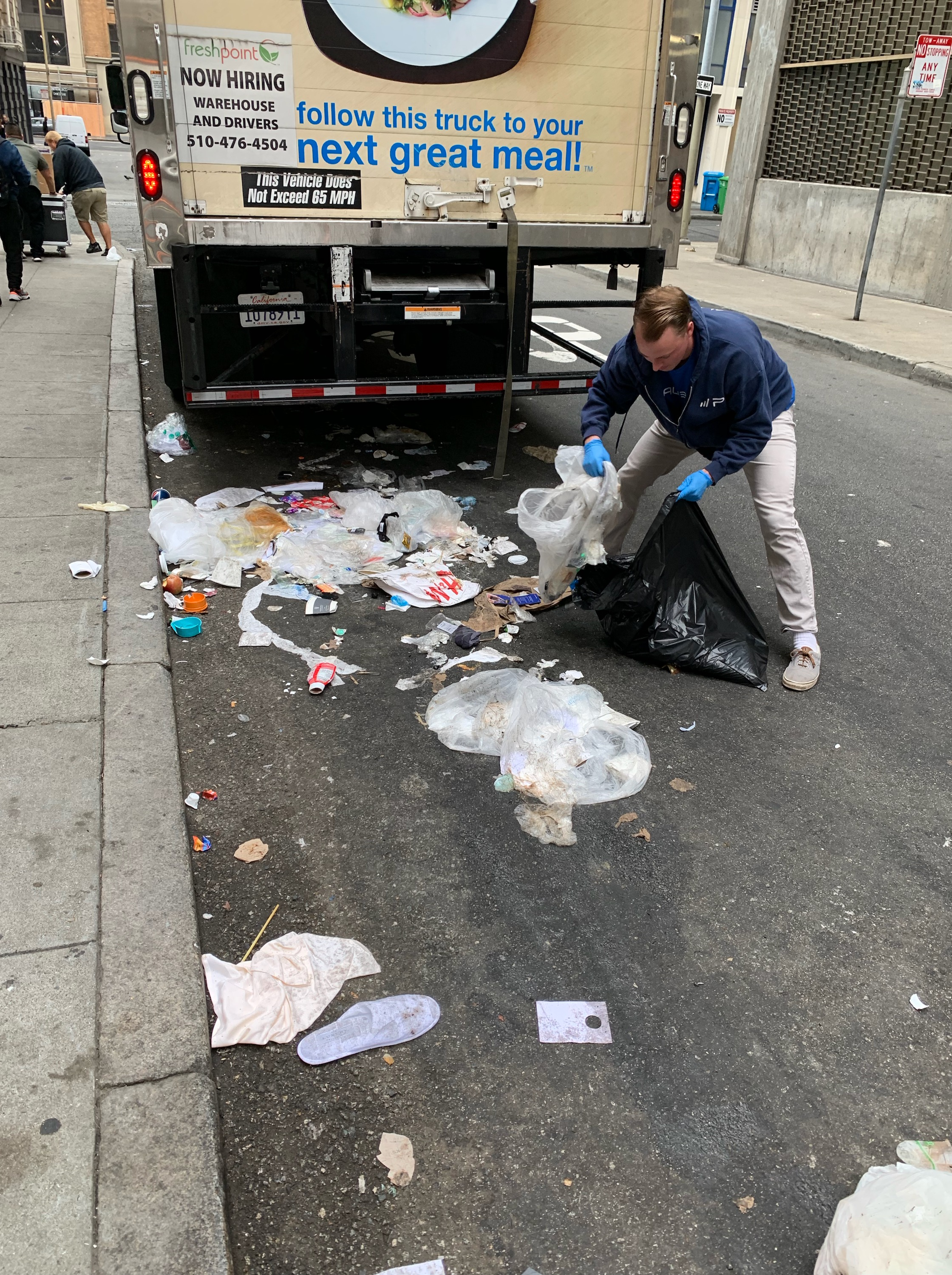 Paubox Community Service: Street Cleanup Around Our New Office - Evan Fitzgerald