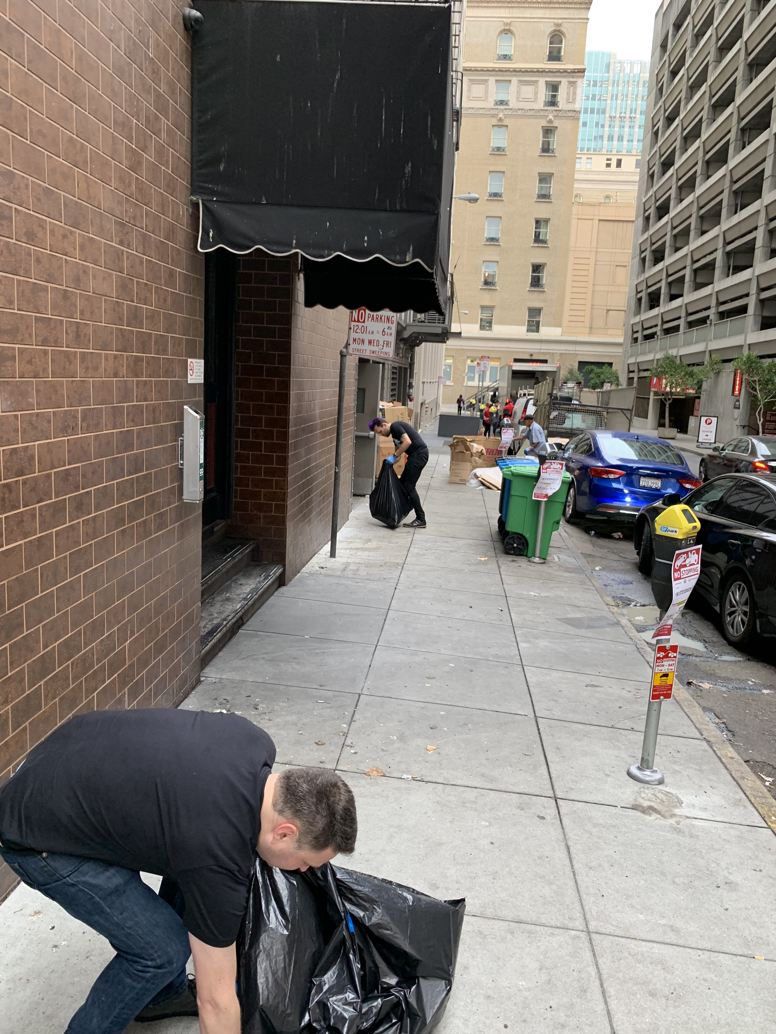 Paubox Community Service: Street Cleanup Around Our New Office - Peter Kirsheman, Justin Babb