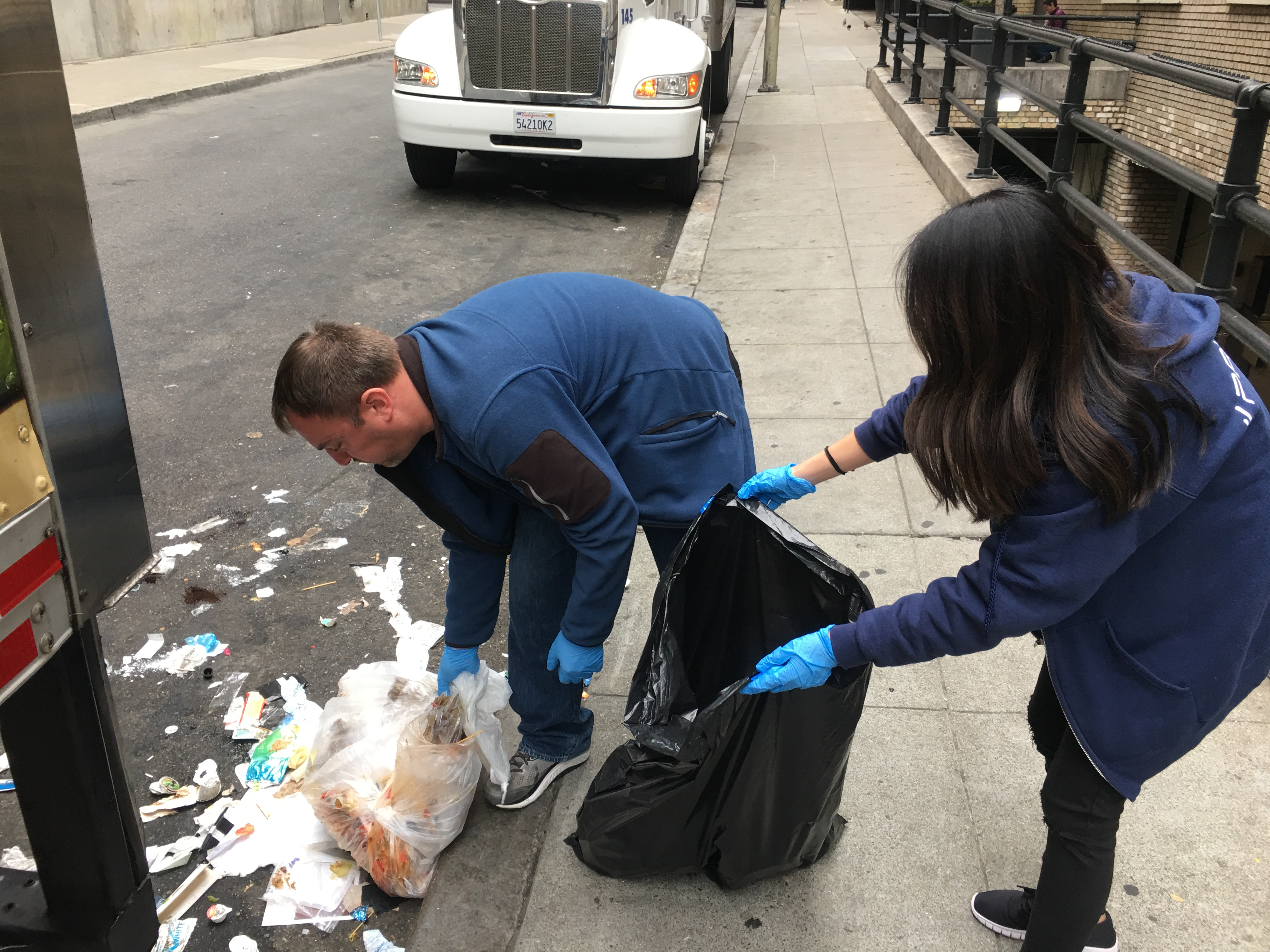 Paubox Community Service: Street Cleanup Around Our New Office - Robert Ogus, Lisa Mai