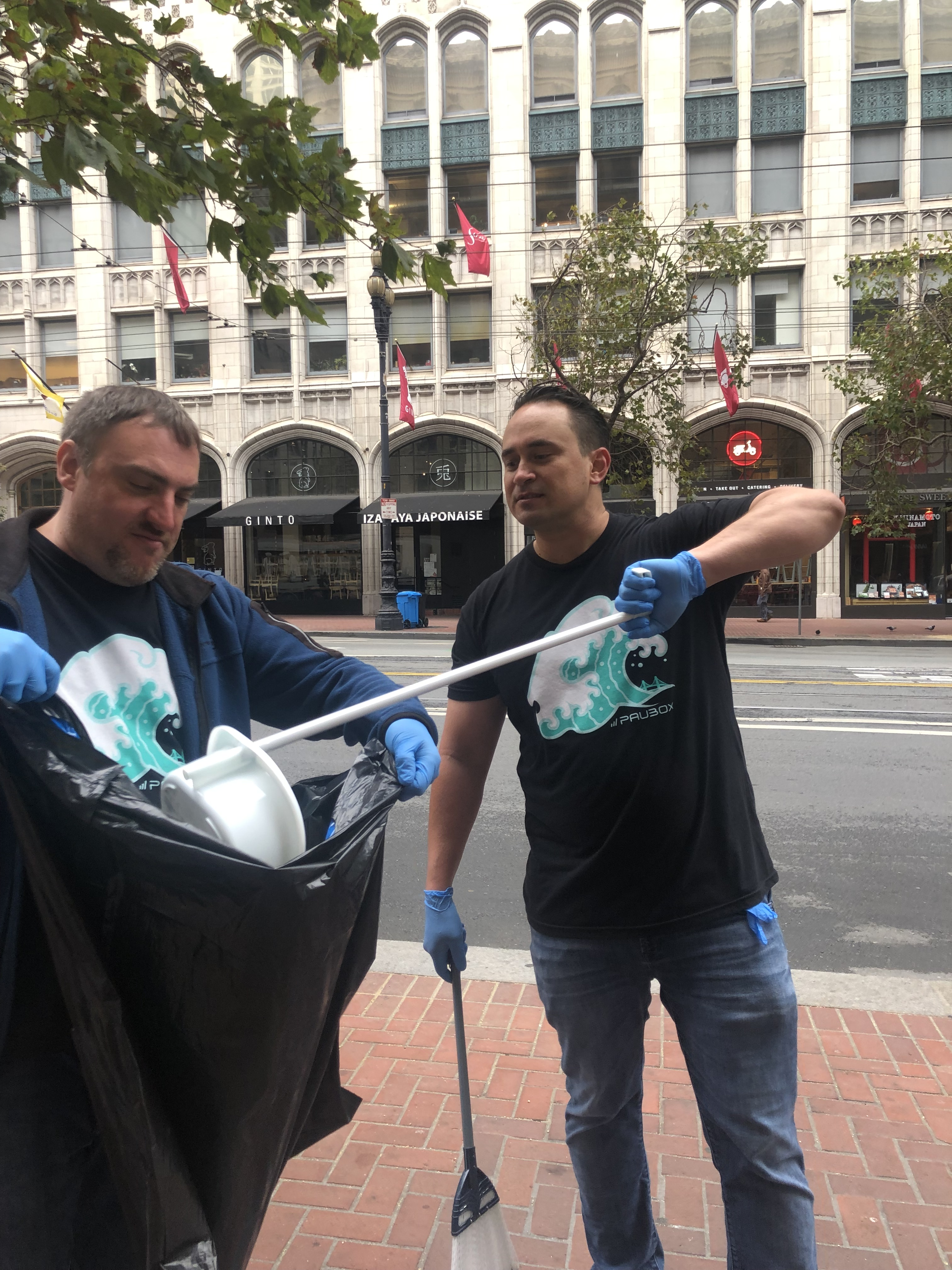 Paubox Community Service: Street Cleanup Around Our New Office - Robert Ogus, Hoala Greevy