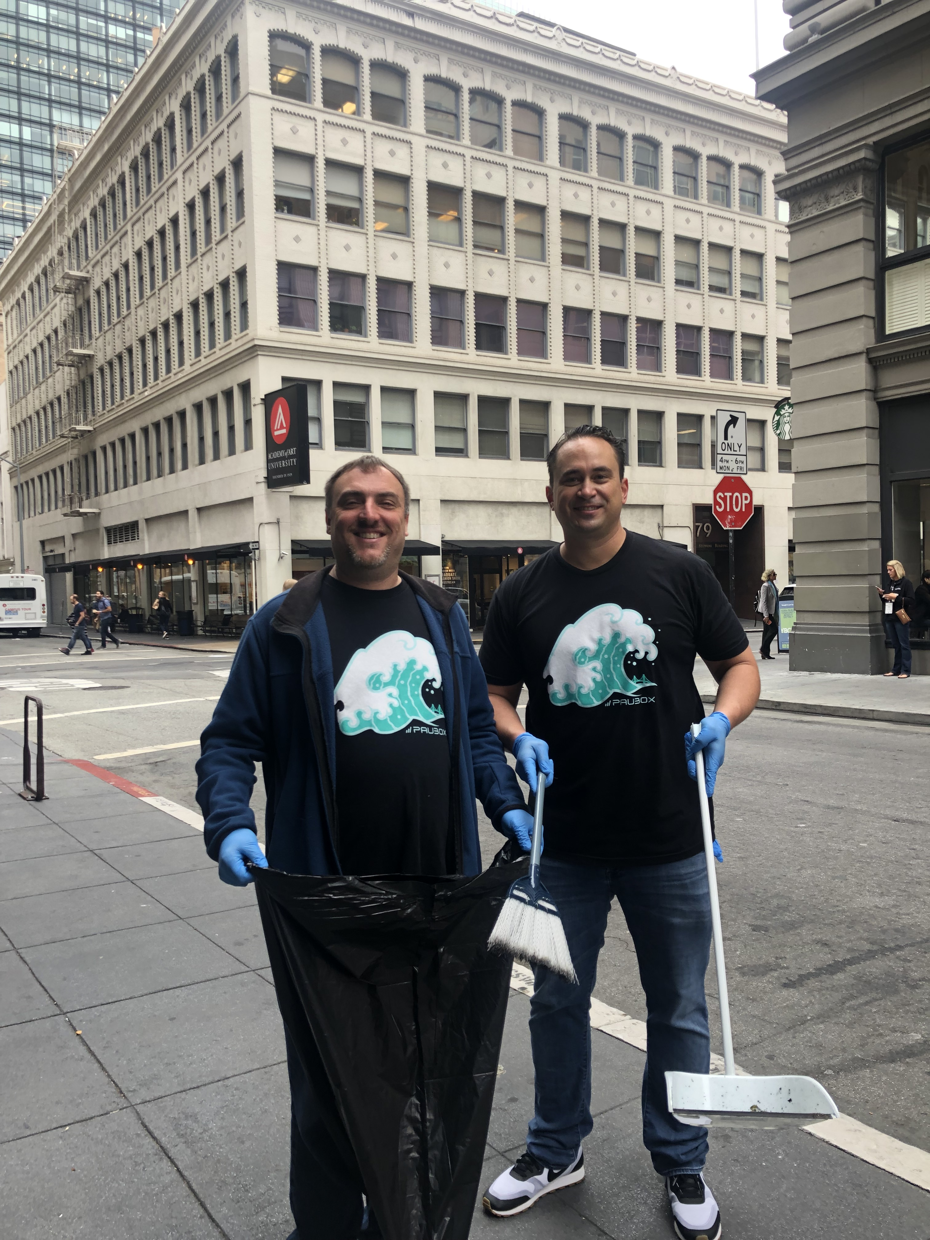 Paubox Community Service: Street Cleanup Around Our New Office - Robert Ogus & Hoala Greevy