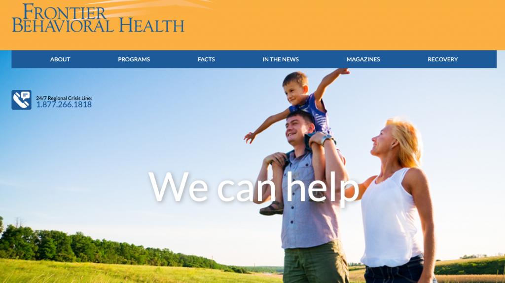 Frontier Behavioral Health Website