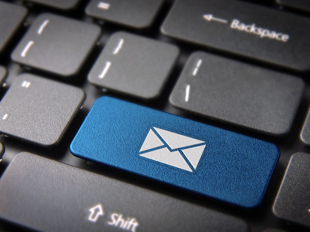 salesforce pardot blue colored email button on keyboard